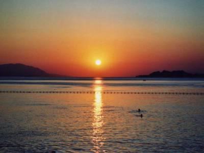Zachód słońca /Grecja/