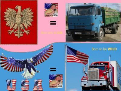 Polska vs USA - Trucks