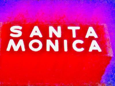 Neon witający kierowców wjeżdżających do miasta Santa Monica z Pacific Coast Highway