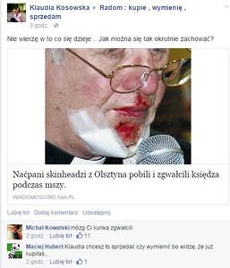 ksiądz - fb przekręt