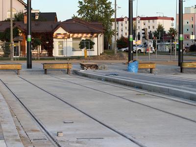Torowisko tramwajowe w Olsztynie