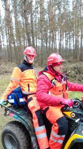 16.03.19 - cwiczenia z poszukiwań i ewakuacji w lesie 3
