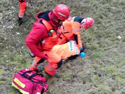 16.03.19 - cwiczenia z poszukiwań i ewakuacji w lesie 6