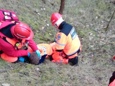 16.03.19 - cwiczenia z poszukiwań i ewakuacji w lesie 7