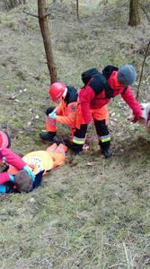 16.03.19 - cwiczenia z poszukiwań i ewakuacji w lesie 8
