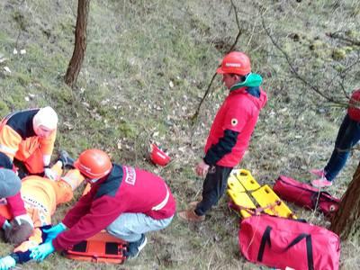 16.03.19 - cwiczenia z poszukiwań i ewakuacji w lesie 25