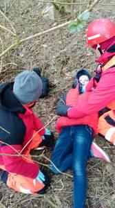 16.03.19 - cwiczenia z poszukiwań i ewakuacji w lesie 66