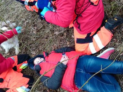 16.03.19 - cwiczenia z poszukiwań i ewakuacji w lesie 67