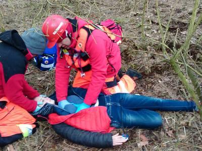 16.03.19 - cwiczenia z poszukiwań i ewakuacji w lesie 69