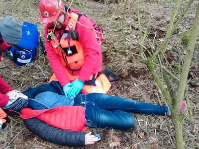 16.03.19 - cwiczenia z poszukiwań i ewakuacji w lesie 71