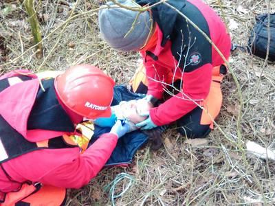 16.03.19 - cwiczenia z poszukiwań i ewakuacji w lesie 76