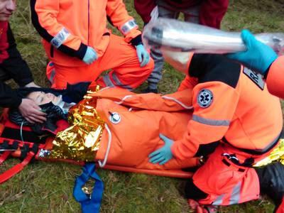 16.03.19 - cwiczenia z poszukiwań i ewakuacji w lesie 109