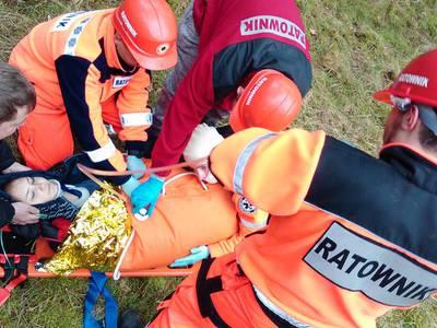 16.03.19 - cwiczenia z poszukiwań i ewakuacji w lesie 112