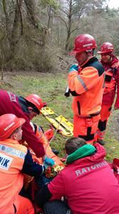 16.03.19 - cwiczenia z poszukiwań i ewakuacji w lesie 113