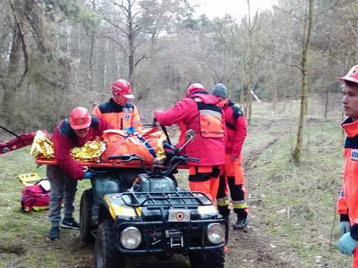 16.03.19 - cwiczenia z poszukiwań i ewakuacji w lesie 118