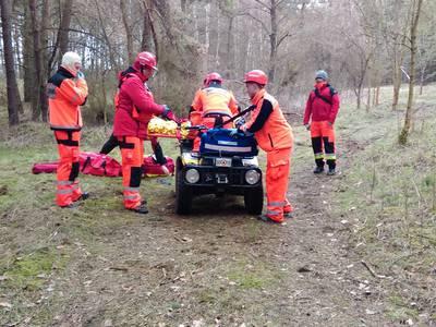 16.03.19 - cwiczenia z poszukiwań i ewakuacji w lesie 119