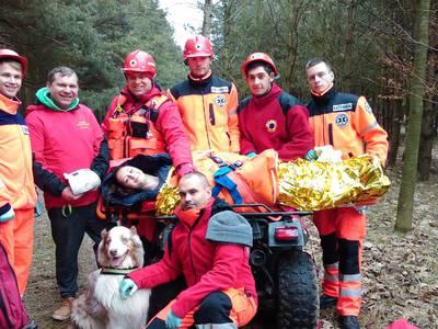 16.03.19 - cwiczenia z poszukiwań i ewakuacji w lesie 124