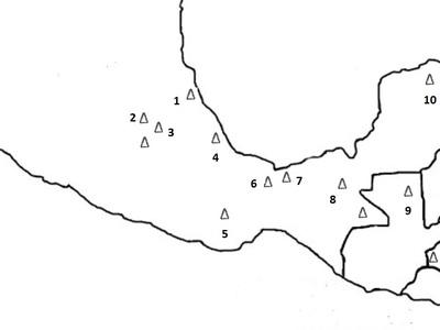 Mapka konturowa Mezoameryki