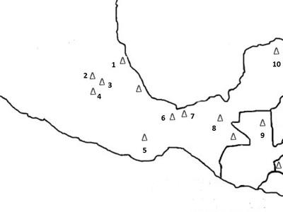 Mapa Mezoameryki Aztekowie 1