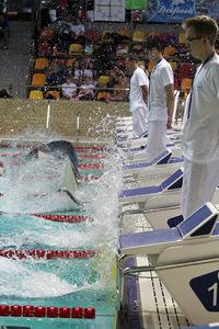 Zawody pływackie w Olsztynie 98