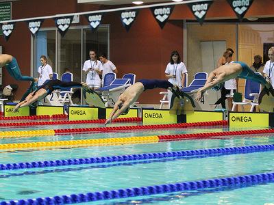 Zawody pływackie w Olsztynie 100