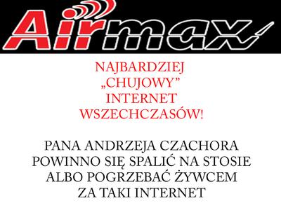 AIRMAX SŁABY INTERNET