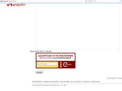 CAPTCHA - nie działa na stronie !!!