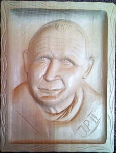 portret Jana Pawła 2 zrobjony przez mojego wójka