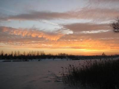 zachód słońca nad jeziorem Sosina 3