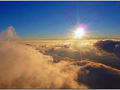 Nad chmurami.
