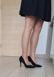 Piękne nóżki koleżanki z pracy