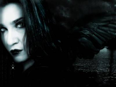 czarna anielica